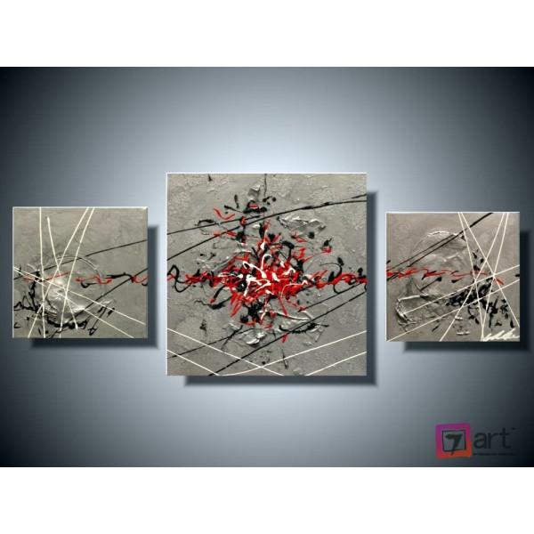 Модульные картины абстракция - триптих, ART: absm_0121