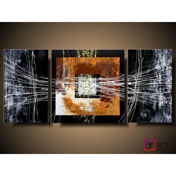 Модульные картины абстракция - триптих, ART: absm_0126