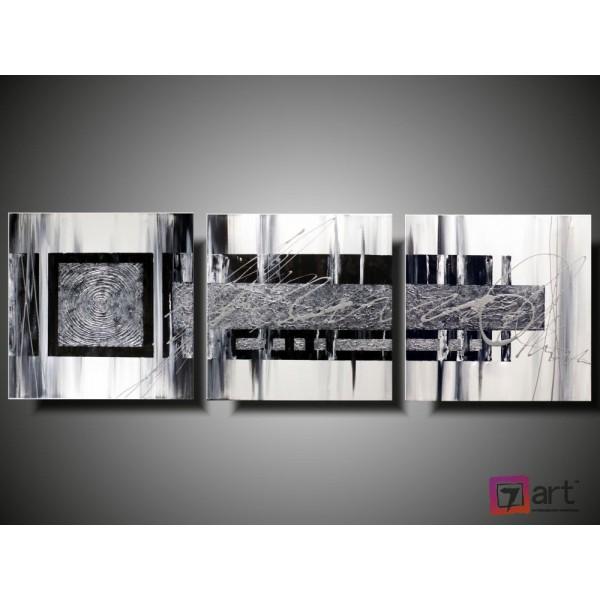 Модульные картины абстракция - триптих, ART: absm_0128