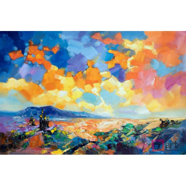 Картина маслом пейзаж, ART: ntl_0012